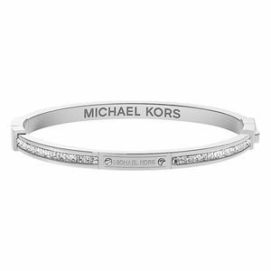 Michael Kors Silver Toned and C/Z Hinged Bangle